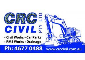 Sponsor logo: CRC Civil Pty Ltd